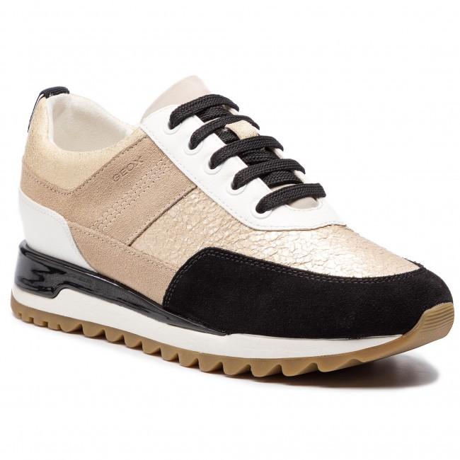 e523a8feda815 Sneakersy GEOX - D Tabelya B D84AQB 0KY22 C0950 Lt Gold/Black - Sneakersy -  Poltopánky - Dámske - eobuv.sk