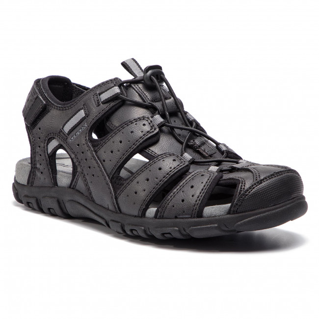 Sandále GEOX - U S.Strada B U6224B 0MEBC C9999 Black