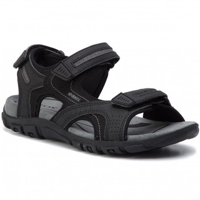 Sandále GEOX - U S.Strada D U8224D 050AU C9310 Black/Stone
