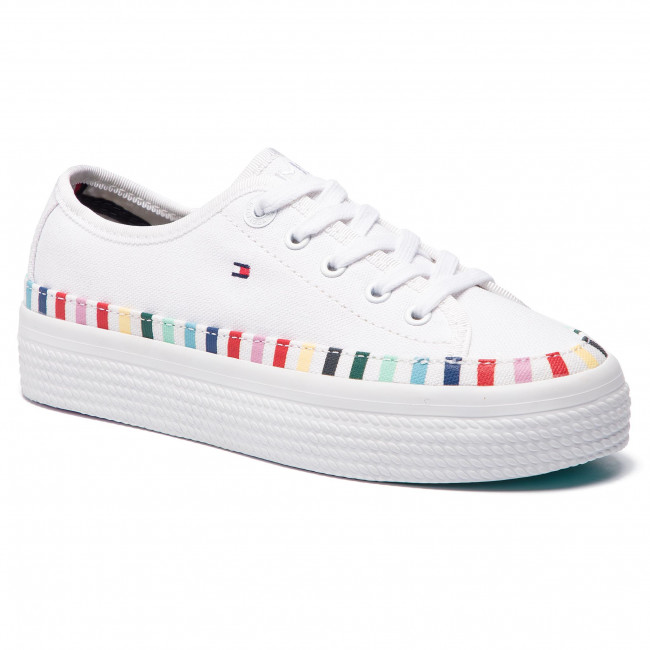 cd750b39aa3d6 Tenisky TOMMY HILFIGER - Rainbow Flatform Sneaker FW0FW04069 White 100 -  Plátenky a tenisky - Poltopánky - Dámske - eobuv.sk