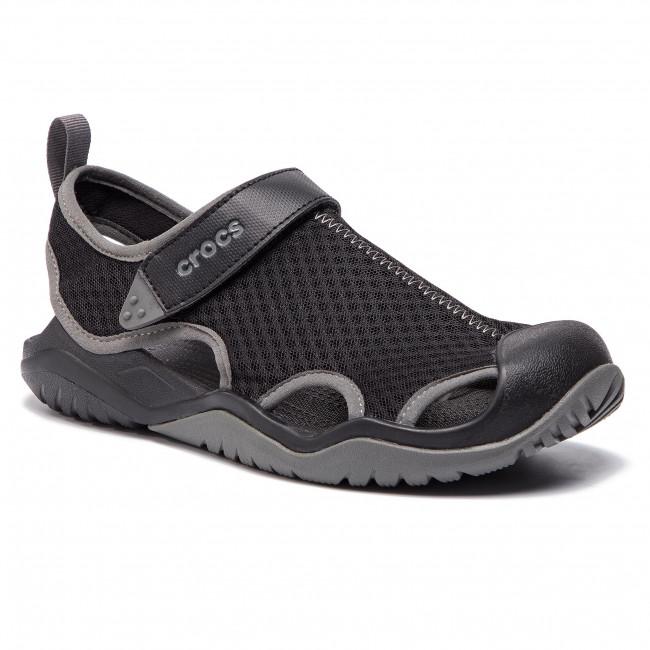 Sandále CROCS - Swiftwater Mesh Deck Sandal M 205289 Black