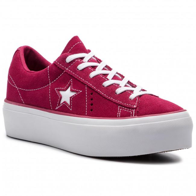 4fd693820eccb Sneakersy CONVERSE - One Star Platform Ox 563488C Rhubarb/White/White