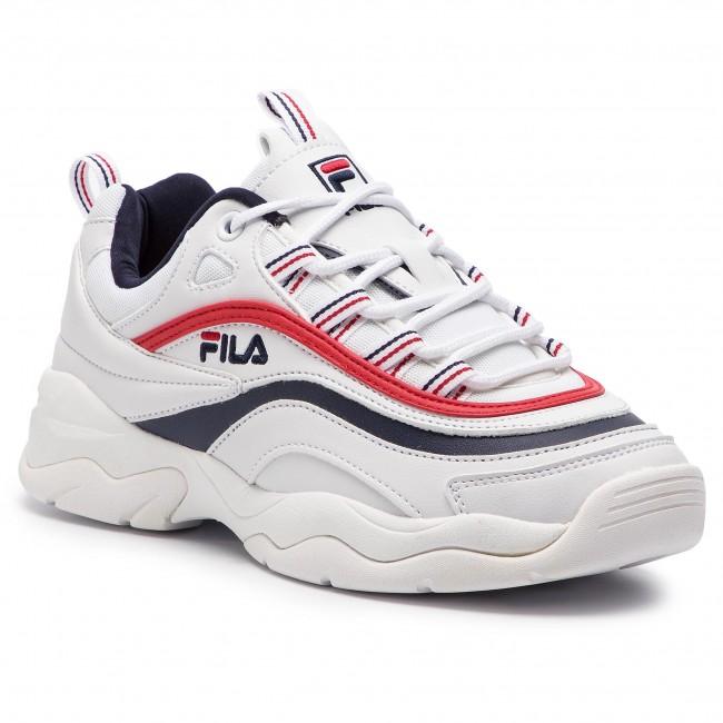 ac61bd41c35ab Sneakersy FILA - Ray Low Wmn 1010562.150 White/Fila Navy/Fila Red -  Sneakersy - Poltopánky - Dámske - eobuv.sk