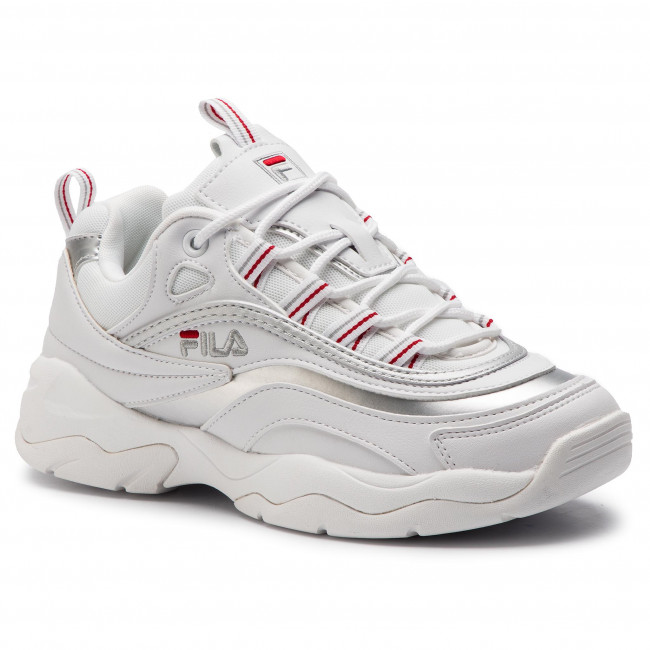 c0d383157c7d5 Sneakersy FILA - Ray Low Wmn 1010562.00K White/Sliver - Sneakersy ...