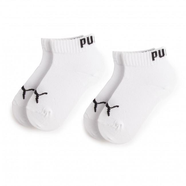 Súprava 2 párov kotníkových ponožiek detských PUMA - 194011001 White 300