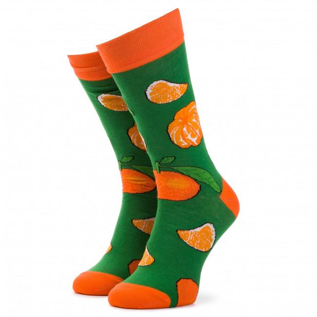 Ponožky Vysoké Unisex CUP OF SOX - MandarynkoveLove Oranžová Zelená