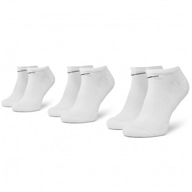 Súprava 3 párov kotníkových ponožiek unisex NIKE - SX7673 100 Biela