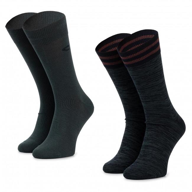 Súprava 2 párov vysokých ponožiek unisex CAMEL ACTIVE - 6410-203 Dark Petrol