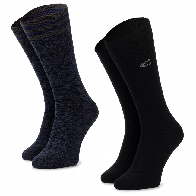 Súprava 2 párov vysokých ponožiek unisex CAMEL ACTIVE - 6410 Blak 610