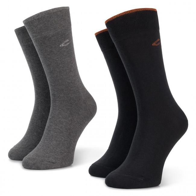 Súprava 2 párov vysokých ponožiek unisex CAMEL ACTIVE - 6438 Anthracite 620