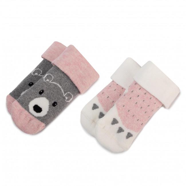 Súprava 2 párov vysokých ponožiek detských TOM TAILOR - 93115  Rose 327
