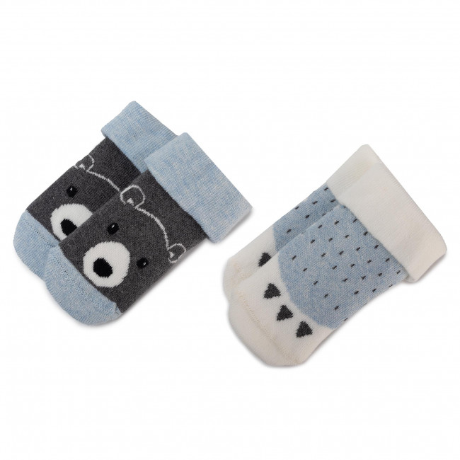 Súprava 2 párov vysokých ponožiek detských TOM TAILOR - 93115  Baby Blue 328