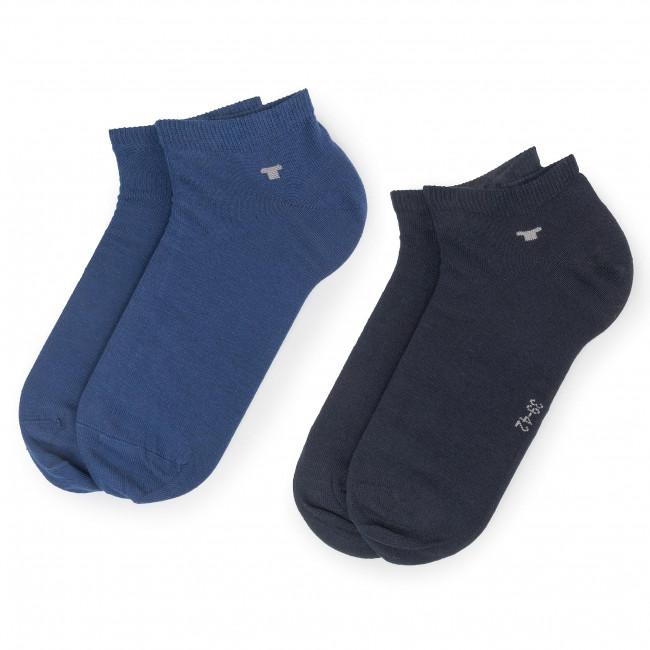 Súprava 2 párov kotníkových ponožiek unisex TOM TAILOR - 9411M  Blue Depths 165