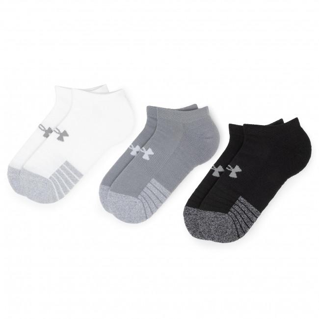 Súprava 3 párov kotníkových ponožiek unisex UNDER ARMOUR - Heatgear No Show Sock 1346755-035 Gray