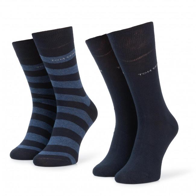 Súprava 2 párov vysokých ponožiek unisex TOM TAILOR - 9545 Str. Dark Navy 545