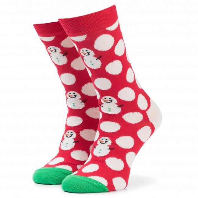 Ponožky Vysoké Unisex HAPPY SOCKS - BDS01-4300 Červená Farebná