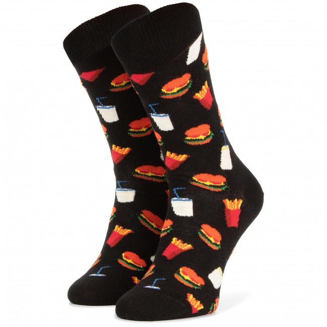 Ponožky Vysoké Unisex HAPPY SOCKS - HAM01-9000 Čierna