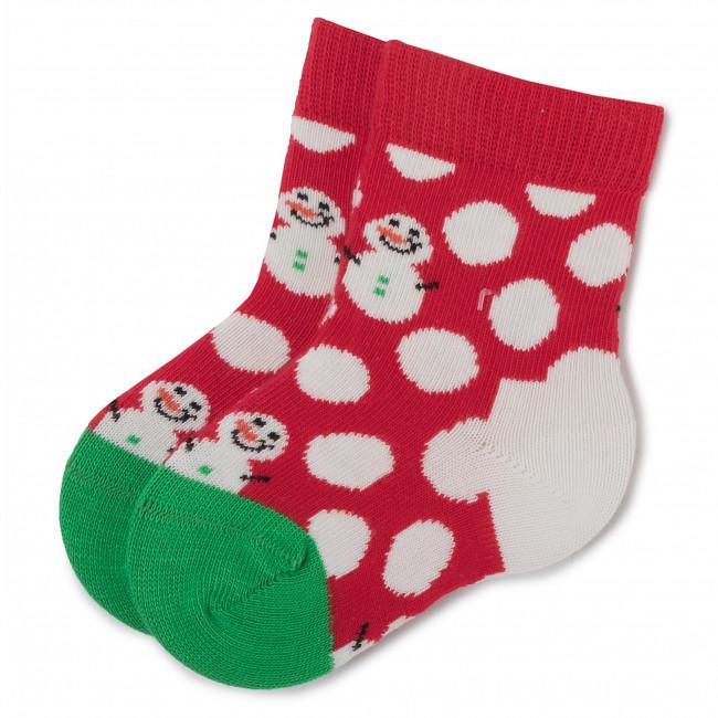 Ponožky Vysoké Detské HAPPY SOCKS - KBDS01-4300 Červená Farebná
