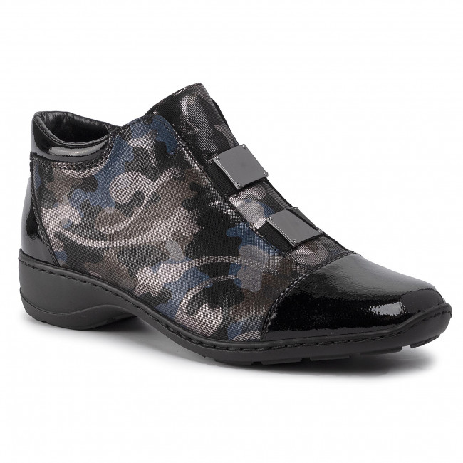 Členková obuv RIEKER - 58398-00  Schwarz Kombi