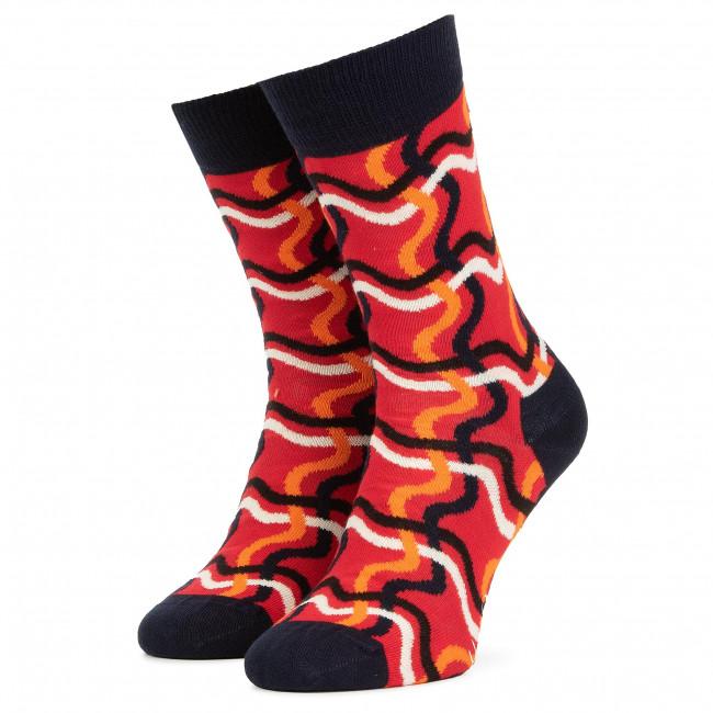 Ponožky Vysoké Unisex HAPPY SOCKS - SQL01-4300 Červená Farebná