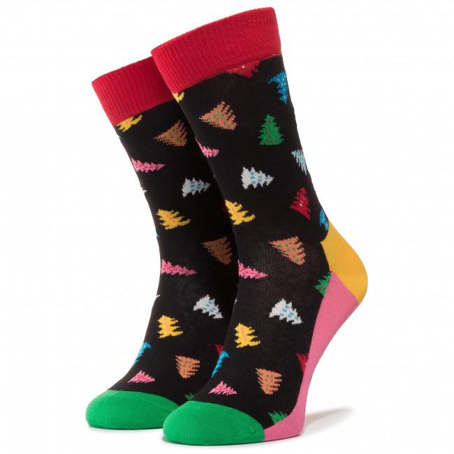 Ponožky Vysoké Dámske HAPPY SOCKS - TAT01-9300 Čierna Farebná