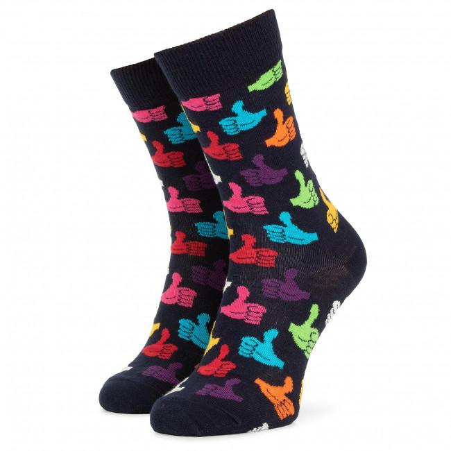 Ponožky Vysoké Unisex HAPPY SOCKS - THU01-6500 Farebná Tmavo modrá