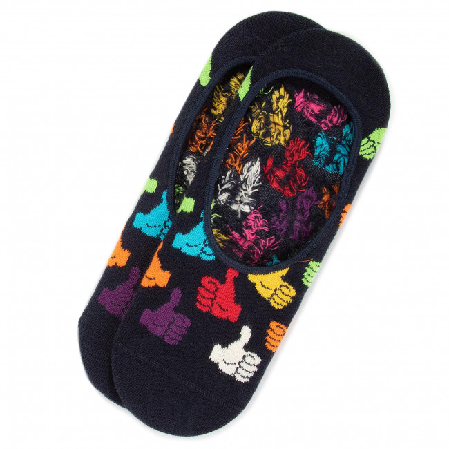 Ponožky Krátke Unisex HAPPY SOCKS - THU06-6500 Farebná Tmavo modrá