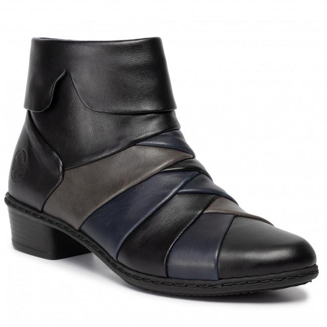 Členková obuv RIEKER - Y0791-01 Schwarz Kombi