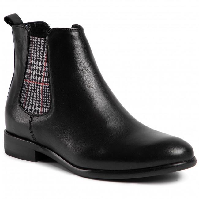 Kotníková obuv s elastickým prvkom EDEO - 3444A-741 Čierna