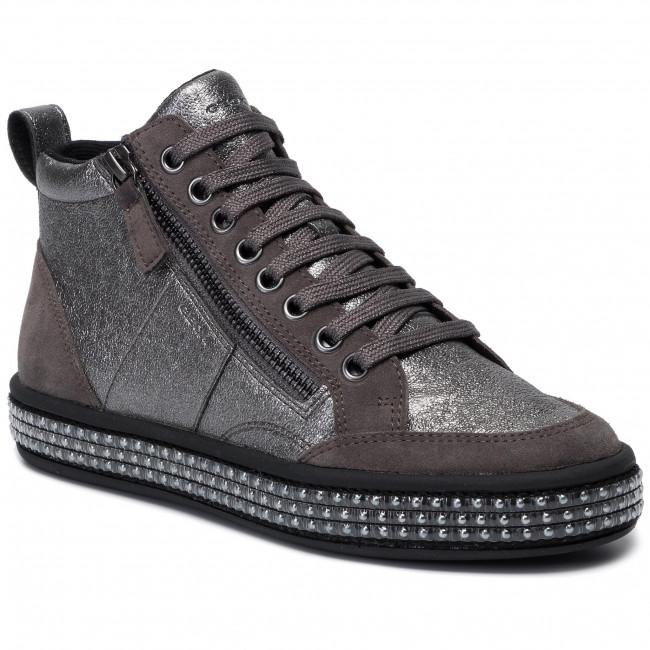 Sneakersy GEOX - D Leelu' G D94FFG 06P22 C1G9F Gun/Dk Grey