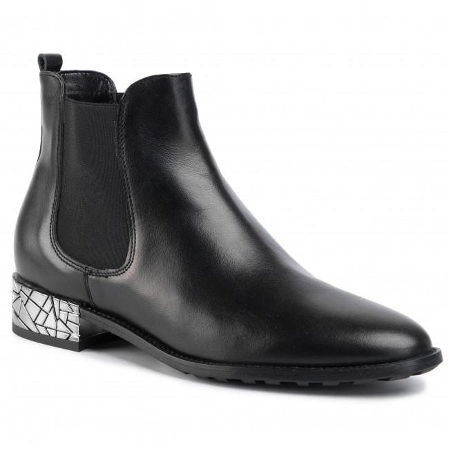 Kotníková obuv s elastickým prvkom OLEKSY - 507/575 Czarne Lico