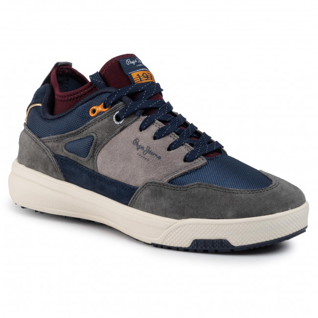 Sneakersy PEPE JEANS - Slate Pro 01 PMS30571 Dark Grey 975
