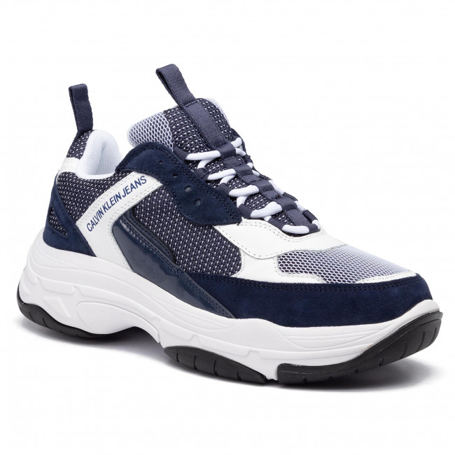 Sneakersy CALVIN KLEIN JEANS - Marvin B4S0133 White/Navy
