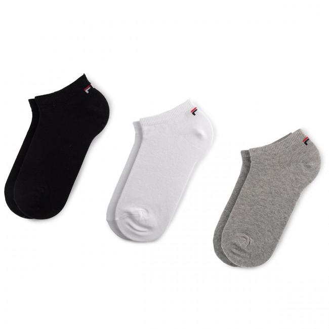 Súprava 3 párov kotníkových ponožiek unisex FILA - Calza Invisibile F9100 Classic 700