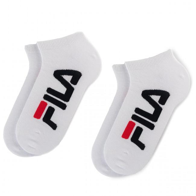 Súprava 2 párov kotníkových ponožiek unisex FILA - Calza Invisible F9199  White 300