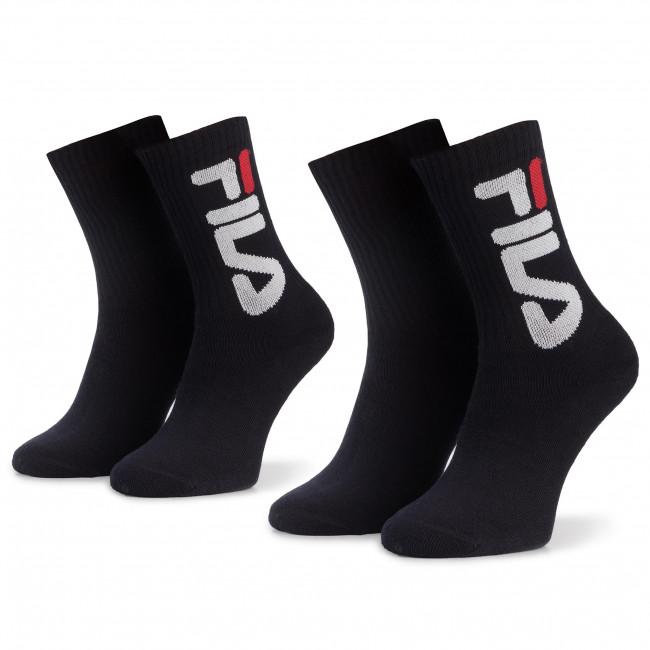 Súprava 2 párov vysokých ponožiek unisex FILA - Calza F9598 Navy 321
