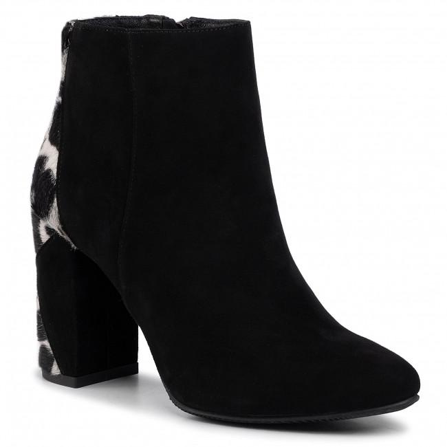 Členková obuv KARINO - 3124/003-P Czarny Welur