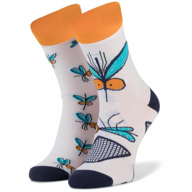 Ponožky Vysoké Unisex CUP OF SOX - Bzyki Z Afryki Biela Farebná
