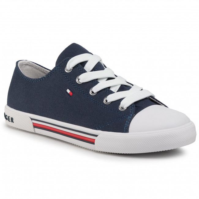 Tramky TOMMY HILFIGER - Low Cut Lace-Up Sneaker T3X4-30692-0890 S Blue 800