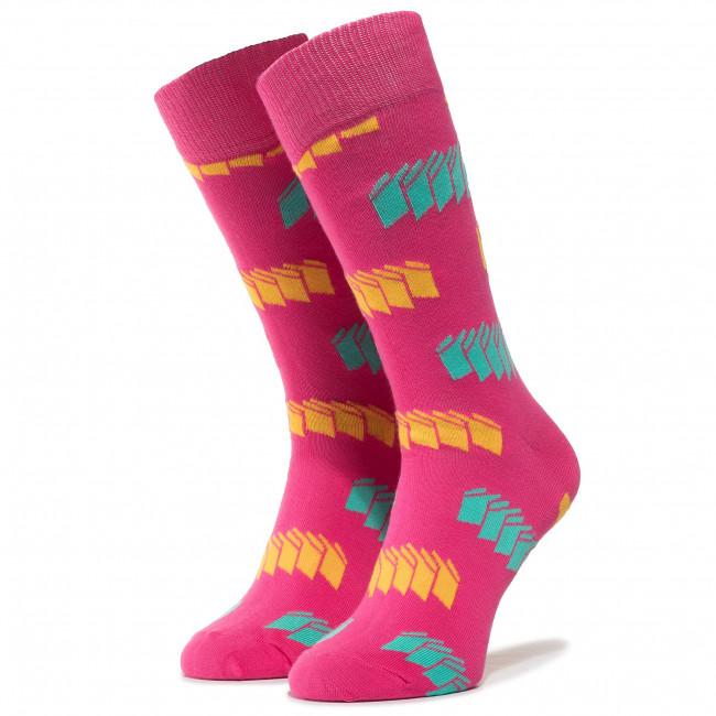 Ponožky Vysoké Pánske HAPPY SOCKS - BLI01-3000 Farebná Ružová