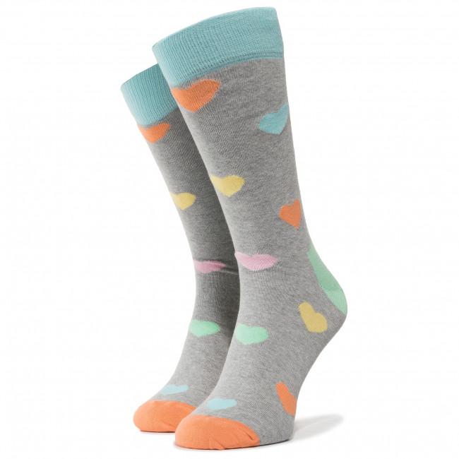 Ponožky Vysoké Pánske HAPPY SOCKS - HEA01-9005 Farebná Sivá