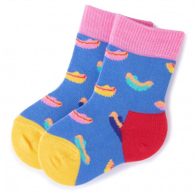 Ponožky Vysoké Detské HAPPY SOCKS - KHOT01-6000 Farebná Modrá