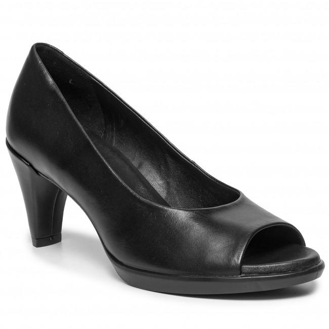 Poltopánky ECCO - Shape 55 Peep Toe Sleek 26830301001 Black