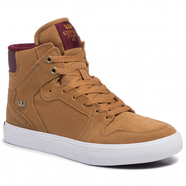 Sneakersy SUPRA - Vaider 08044-258-M Tan/Wine/White