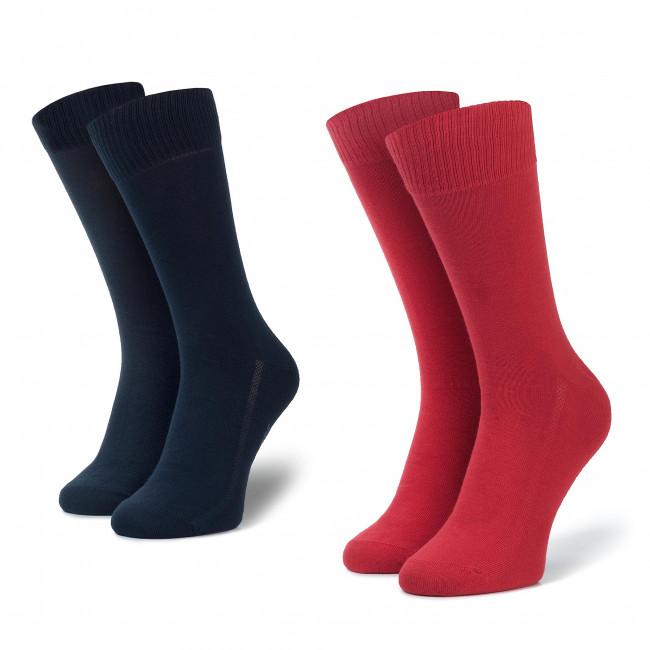 Súprava 2 párov vysokých ponožiek unisex LEVI'S - 37483-0045 Red/Blue 505