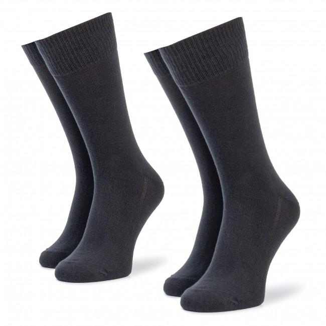 Súprava 2 párov vysokých ponožiek pánskych LEVI'S - 963016001 Jet Black