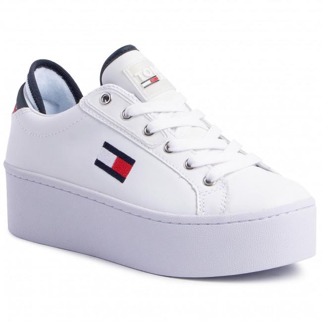 Sneakersy TOMMY JEANS - Flatform Tommy Jeans Sneaker EN0EN00718  Rwb 0K5