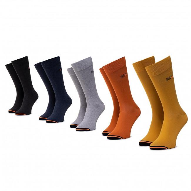 Súprava 5 párov vysokých ponožiek pánskych SUPERDRY - City M3110012A  Orange Multipack J6E