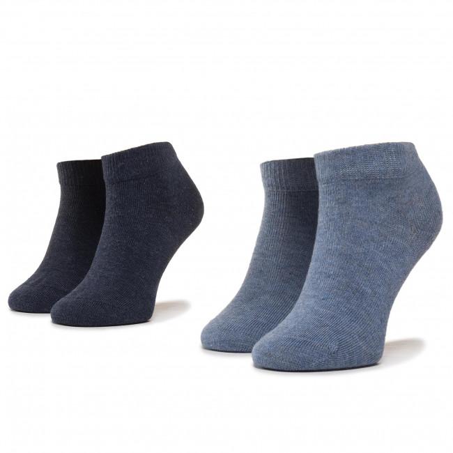 Súprava 2 párov kotníkových ponožiek detských TOMMY HILFIGER - 301390 Jeans 356