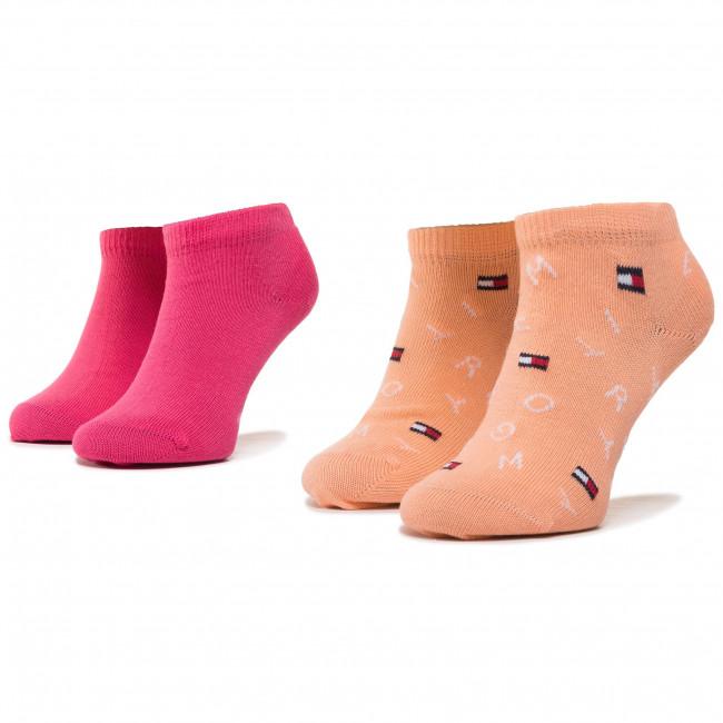 Súprava 2 párov kotníkových ponožiek detských TOMMY HILFIGER - 320404001 Pink Lady 026